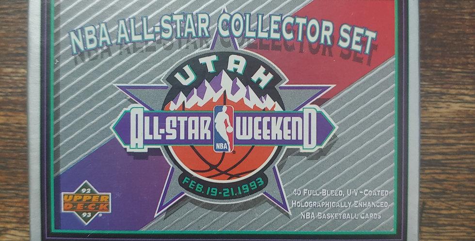 1992-93 Upper Deck NBA All-Star Colletor Set - OPENED