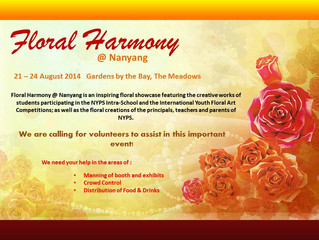 Floral Harmony @ Nanyang from 21-24 August