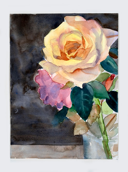Pastel Roses- yellow and pink