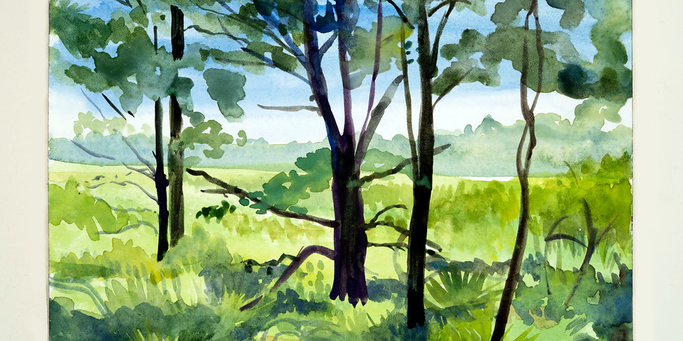 Small Watercolors Plein Air Landscapes
