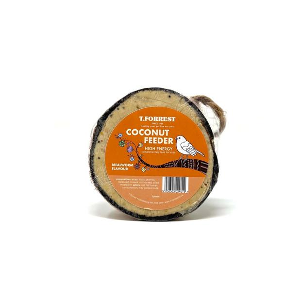 ''NEW'' Premium Suet Coconut Feeder - Mealworm