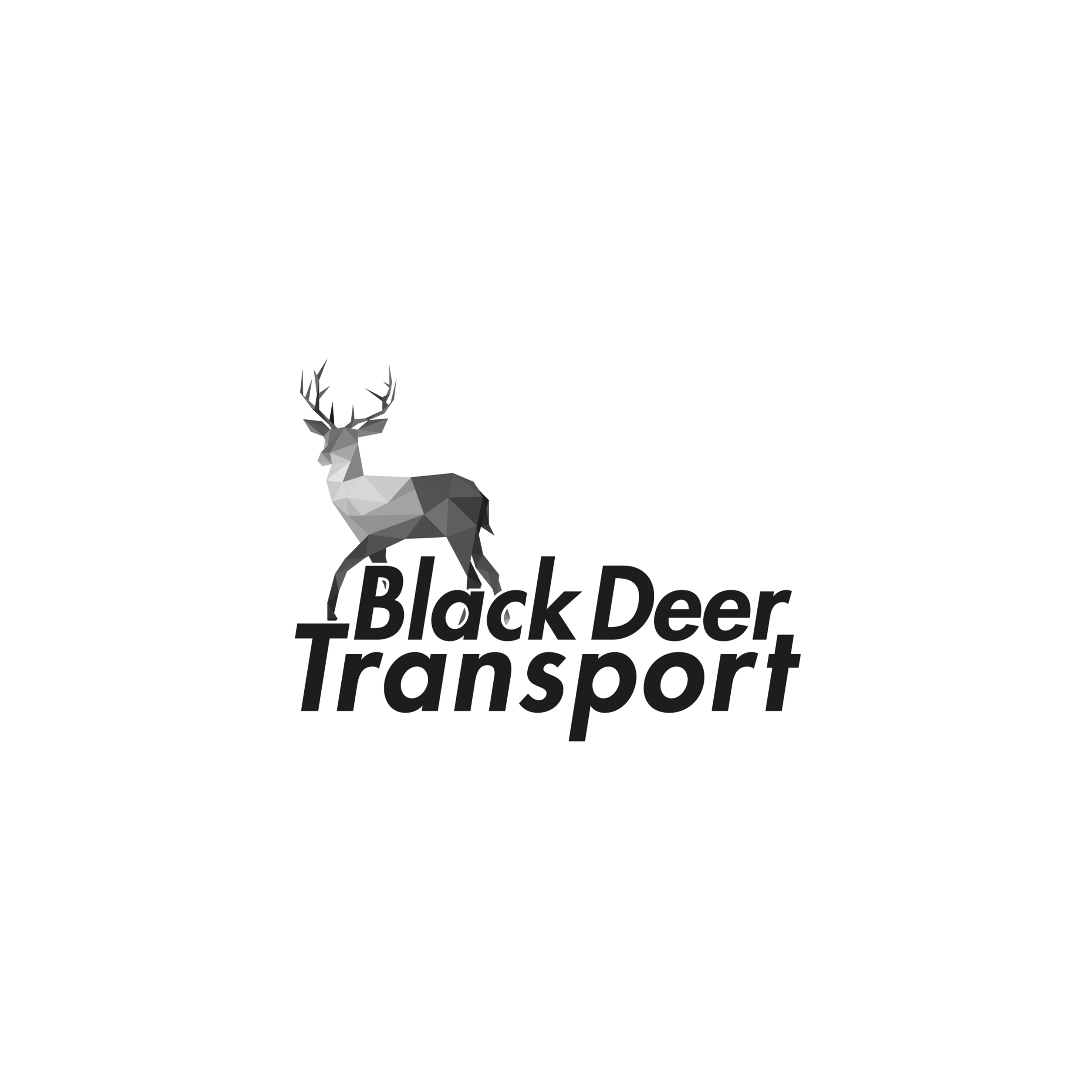 Black Deer Transport Logo Design