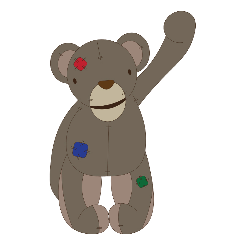Waving_Patched_Teddy_Bear