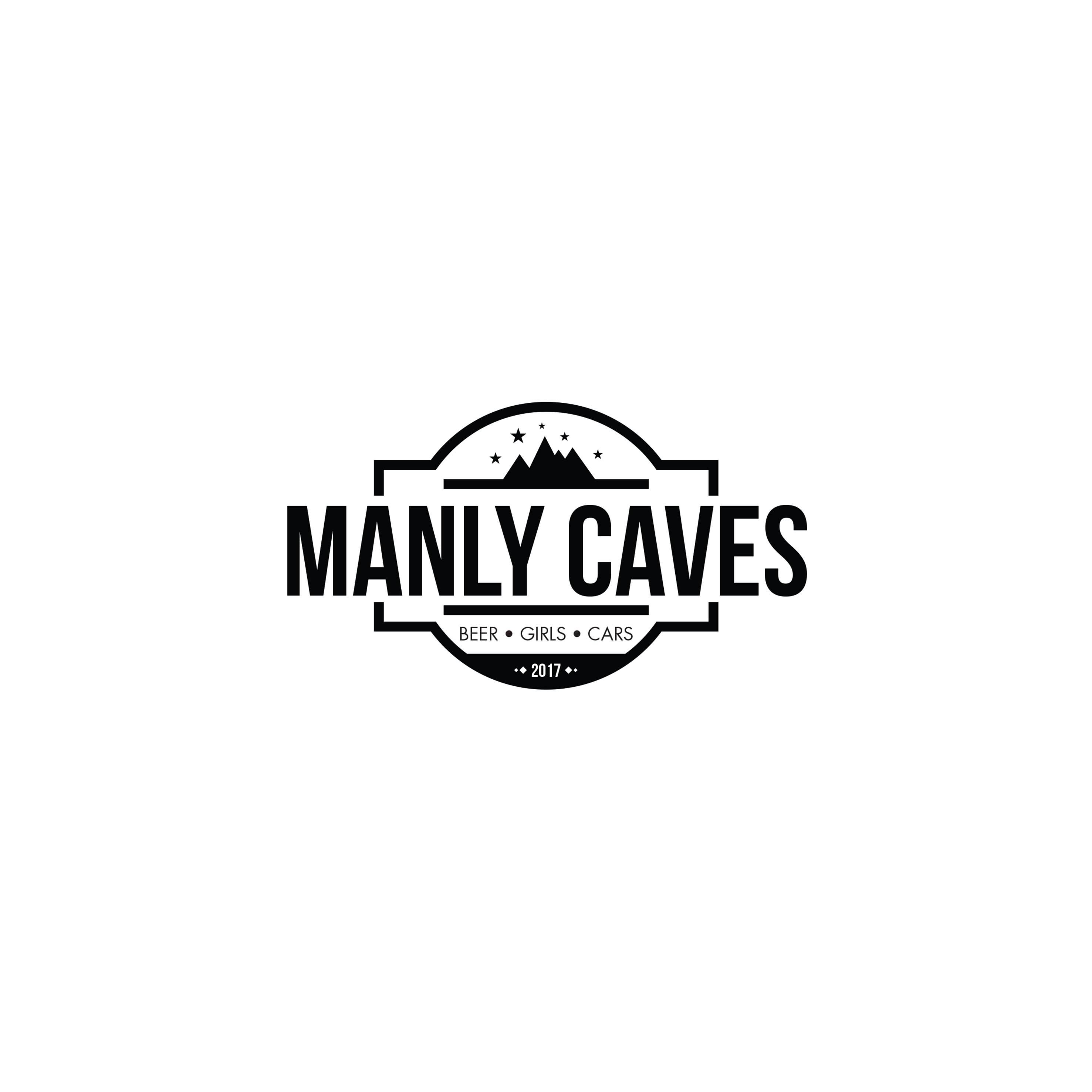 Manly Caves Logo Design