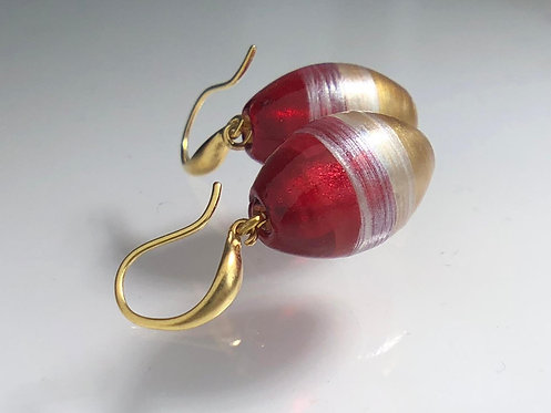 SOFIA Earrings - RHUBARB