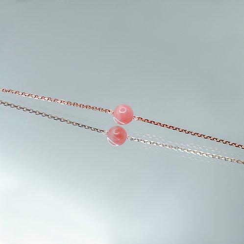 Luna Bracelet - Pink Moon (Rhodochrosite)