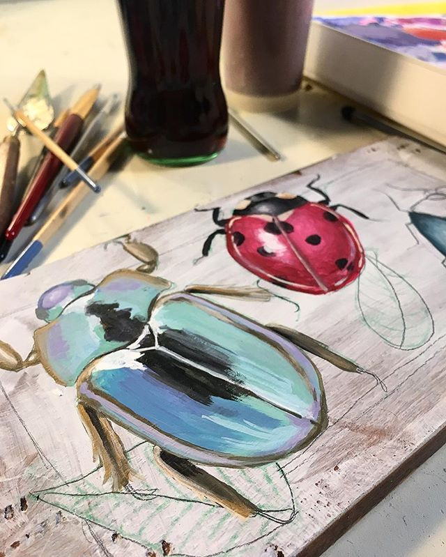 Beetle painting WIP