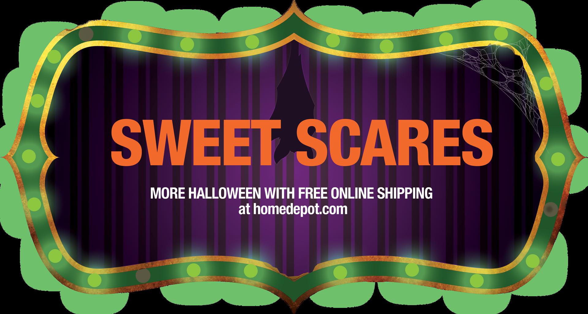 Sweet Scares Carnival Digital Art Signage Display Concept for Halloween
