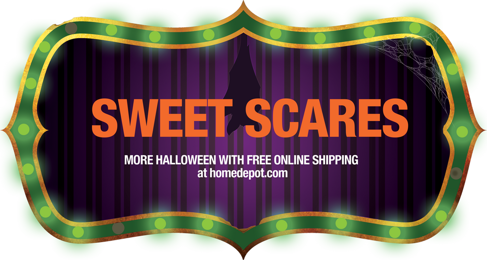 Sweet Scares Carnival Digital Art Signage Display Concept for Halloween