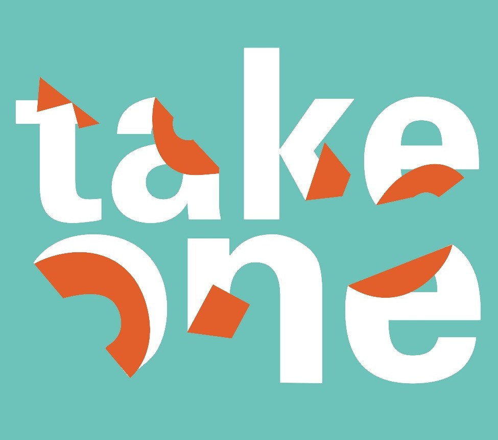 take one typography poster design