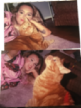 artis posing with her cat