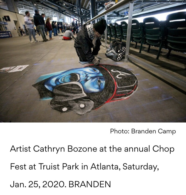 Atlanta Journal Constitution feature of artist Cathryn Bozone