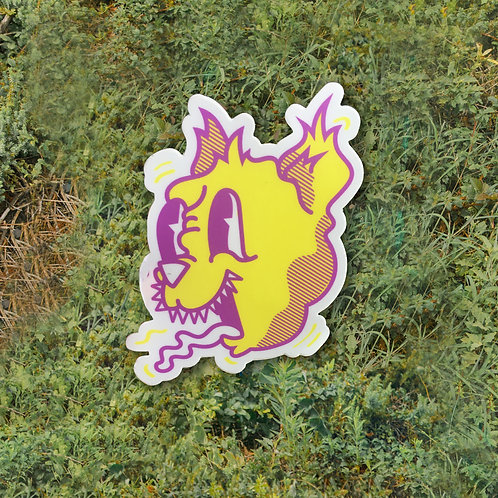 Crusty Cat Die Cut Sticker