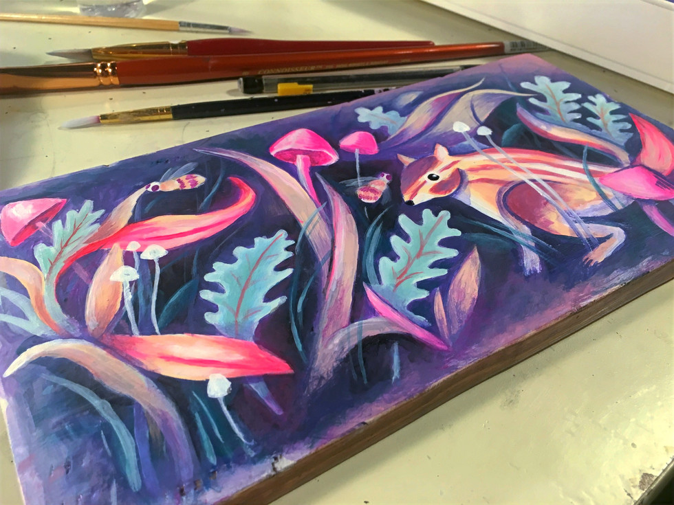 WIP chipmonk painting