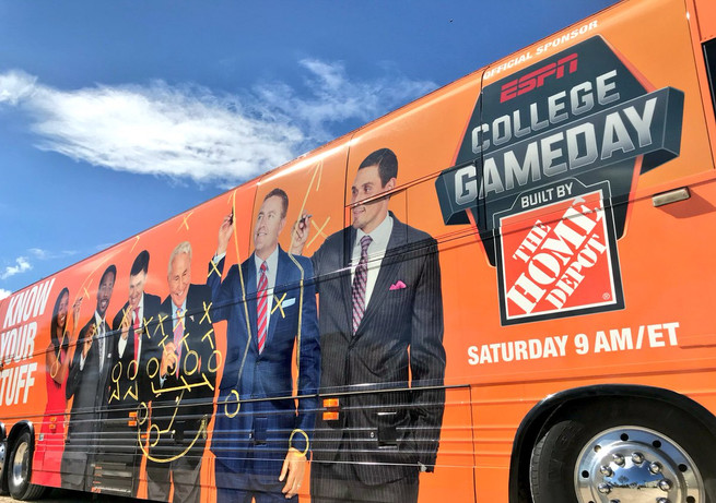 College Game Day Home Depot Bus