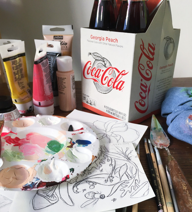 Peach Coke With Paint