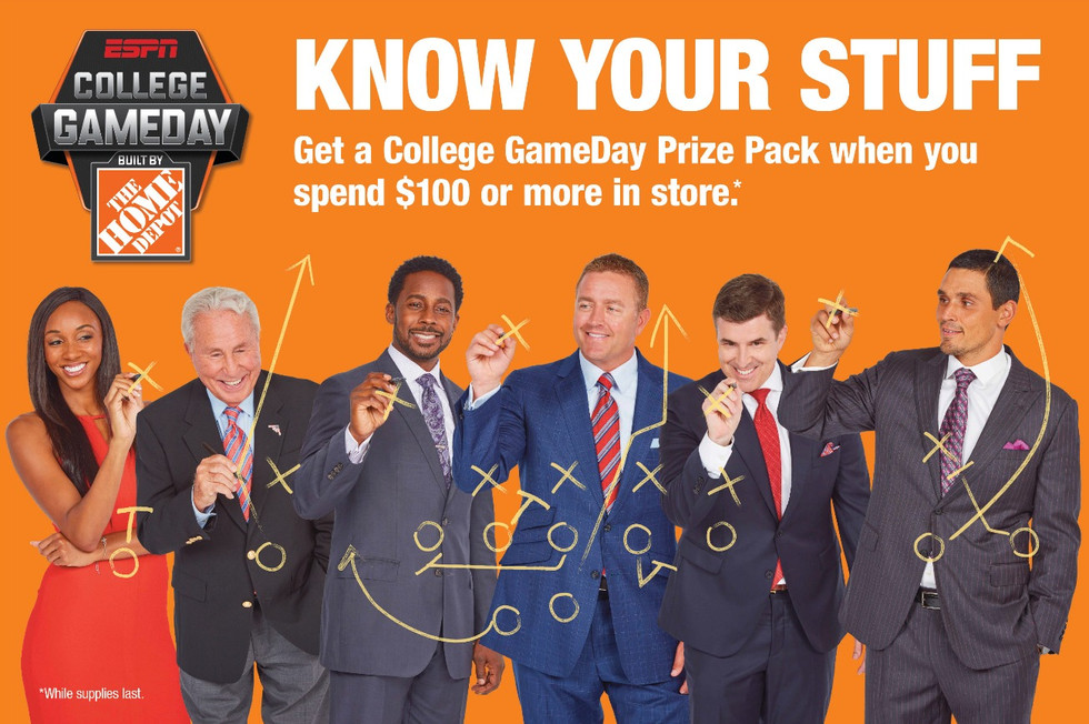 College Game Day Trivia Sign Design