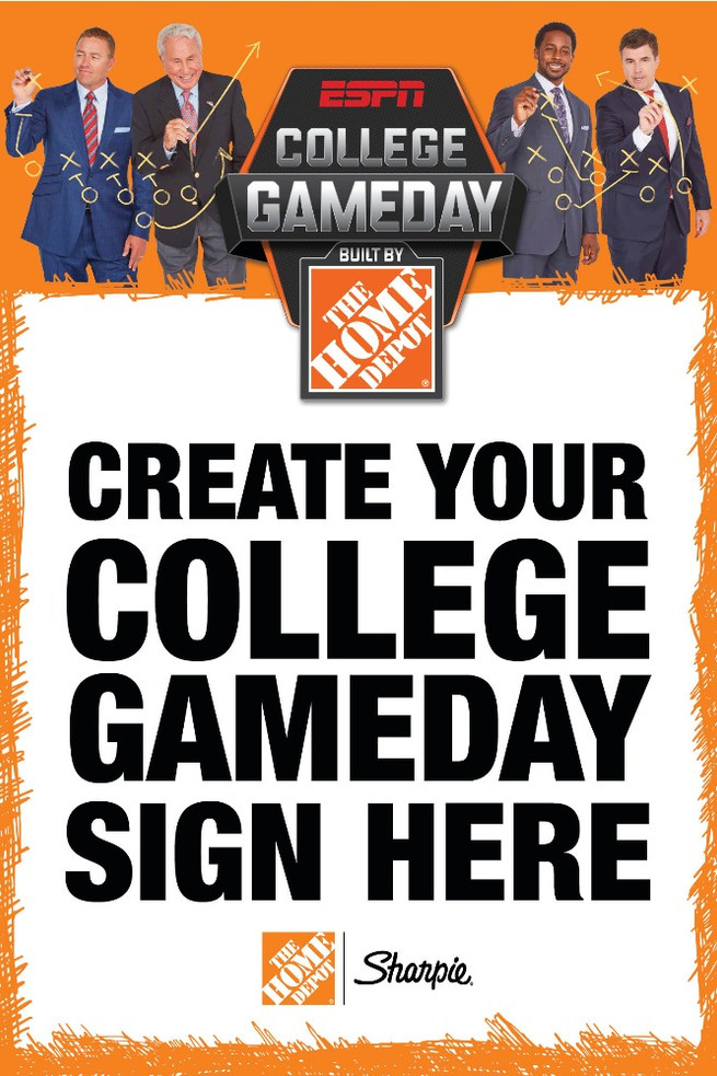 College Game Day Sign Design