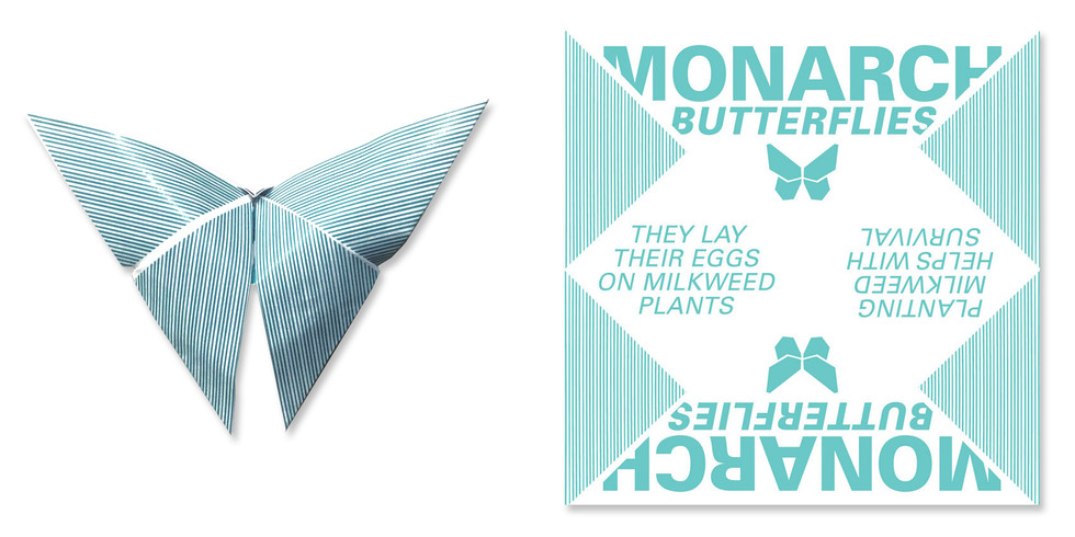 Oragami Butterfly Awareness Typography Design