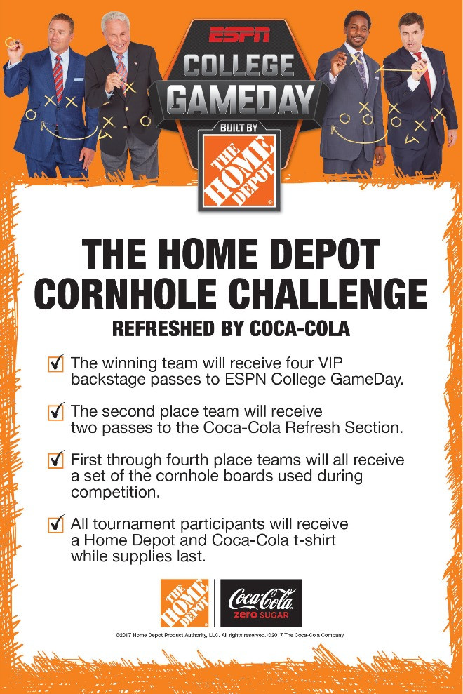 College Game Day Home Depot Cornhole Challenge