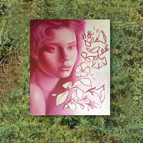 Pink Lady Painting