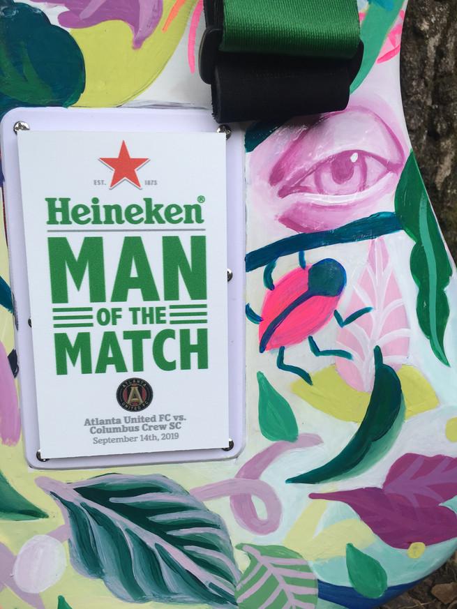 heineken man of the match atlanta united plack