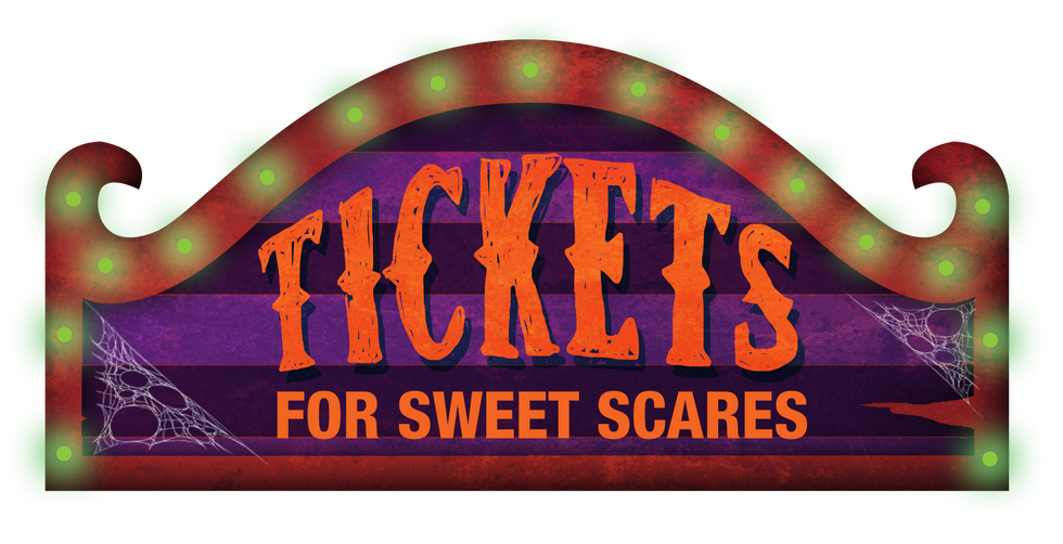 Carnival Digital Art Tickets Signage Display Concept for Halloween