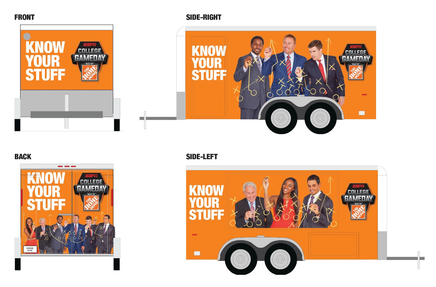 College Game Day Home Depot Trailer Design