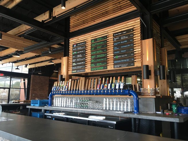 Sweetwater brewing company taproom beer list by cathryn bozone
