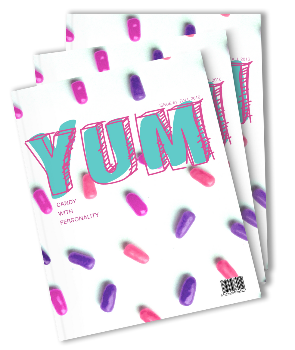 YUM Magazine Cover Design and Typography