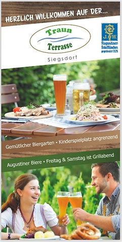 Flyer, 4-seitig, DIN lang 105, Traun Terrasse in Siegsdorf