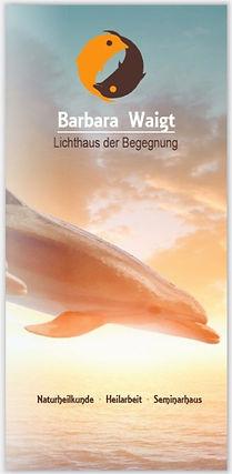 Flyer 6 Seiten für Heilpraktikerin Barbara Waigt in Trostberg.