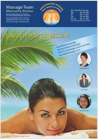 Plakat A1 für Massagepraxis Manuella Römer