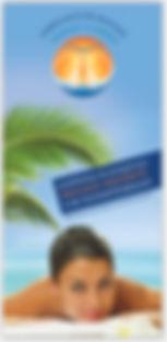 Werbeflyer für Massagepraxis Manuella Römer in Trostberg, Burghausen und Tacherting