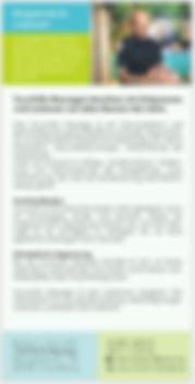 Flyer mit 2 Seiten für Massagepraxis Robert Schießl in Trostberg und Brannenburg.