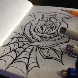 Another quick #rose for the sketchbook. This was a little more new-schoolish
