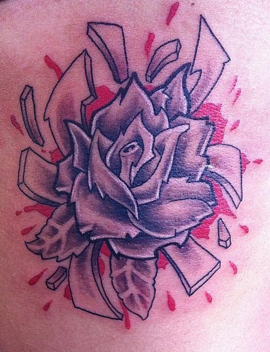 3d Spatter Rose