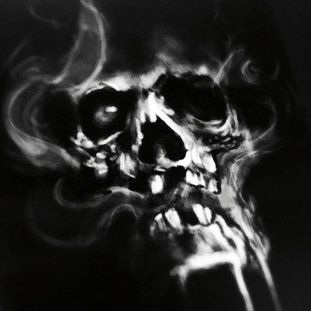 Another shot of that #digitalpainting #skull I just did at work