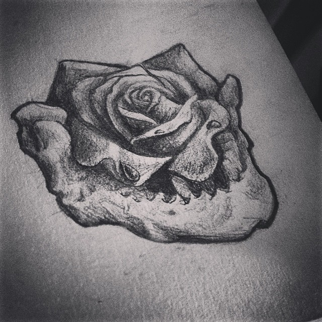 This was my #latenight #sketch last night at about 4am.  Another #rose for the book