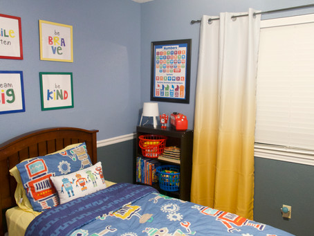 Robot Themed Toddler Room Makeover
