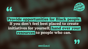 Lesson Four - Use your strengths to add value to Black History Month