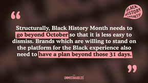 Lesson Eight - Think about Black people beyond October