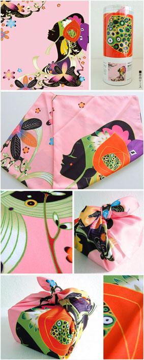 琉装の女(ピンク)