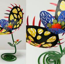 食虫植物(黒+黄)