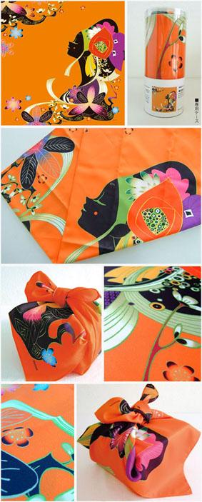 琉装の女(オレンジ)