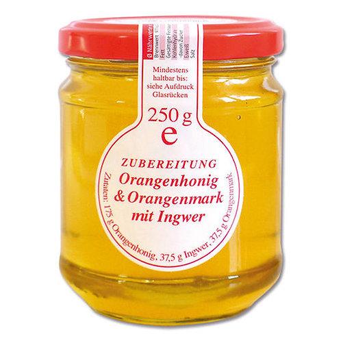 Orangenhonig & Orangenmark mit Ingwer, 250g