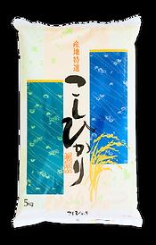 山形県産こしひかりの米袋