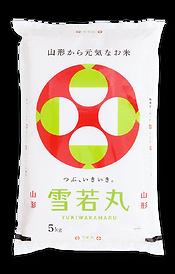 山形県産雪若丸の米袋