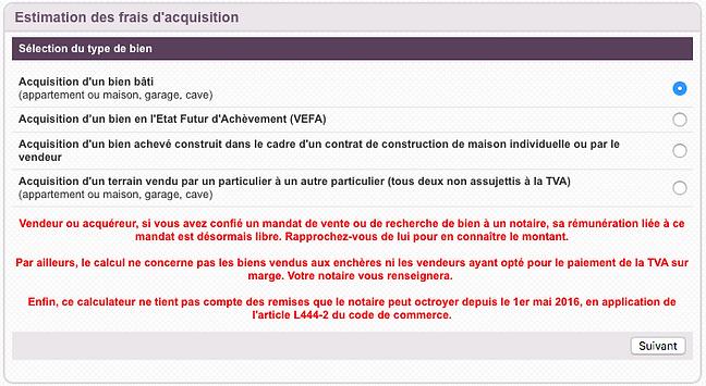 Notaires Montmartre / simulateur de frais et de taxes