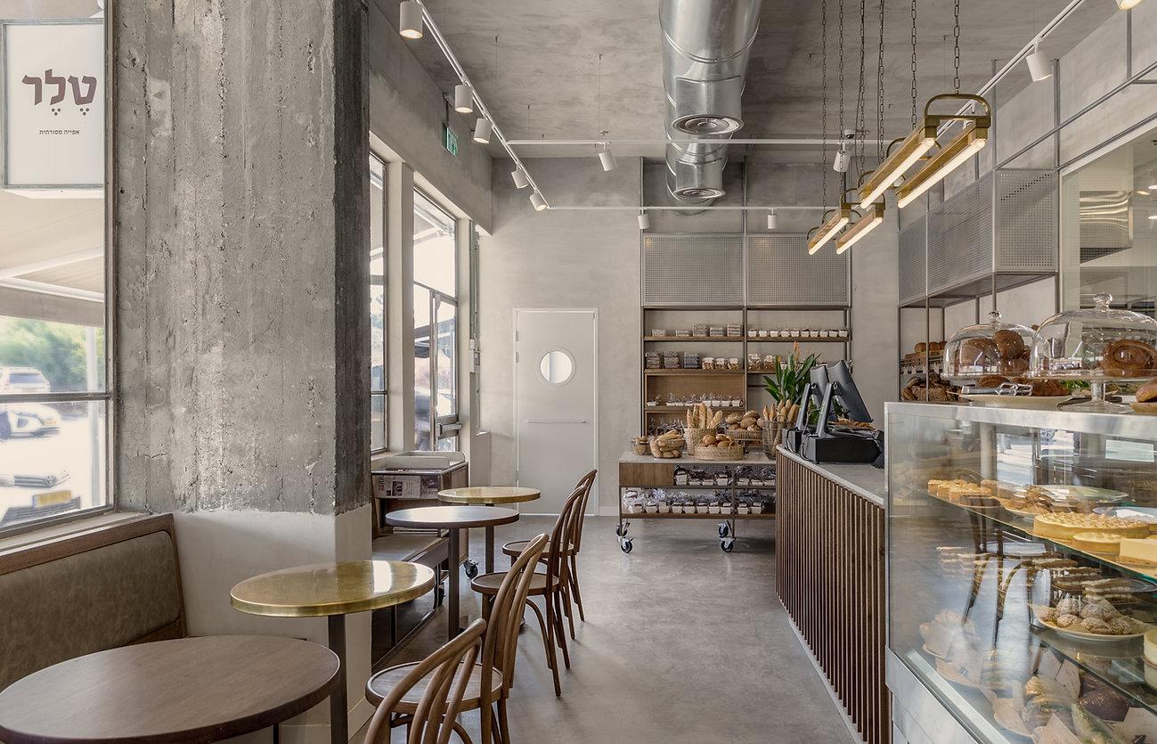 עיצוב קונדיטוריה, עיצוב בית קפה ,טלר ,מעצבת פנים , עיצוב חללים מסחריים, מאפיית טלר, עיצוב מאפייה